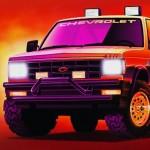 Billboard Illustration of a Chevy Blazer