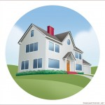 technical illustration of House on a Hill