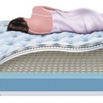 technical illustration of Cutaway of Mattress and Box Spring