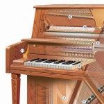 technical illustration of Cutaway Illustration of Piano
